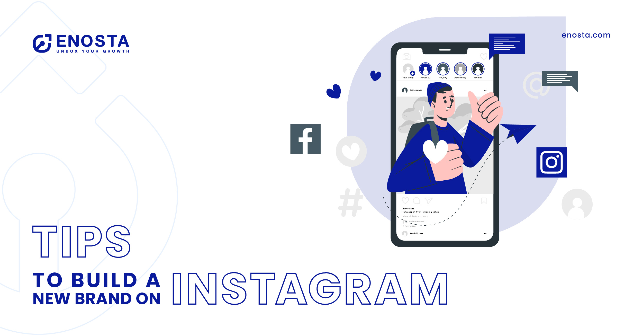 build a new brand on instagram